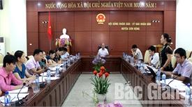 Kiểm tra cải cách hành chính tại huyện Sơn Động