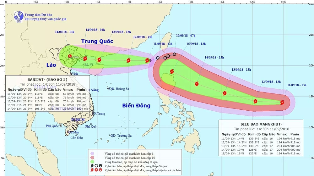 Tropical depression, Tropical Storm Barijat, tropical storm, international name, national meteorological agency, serious storm, agricultural production areas