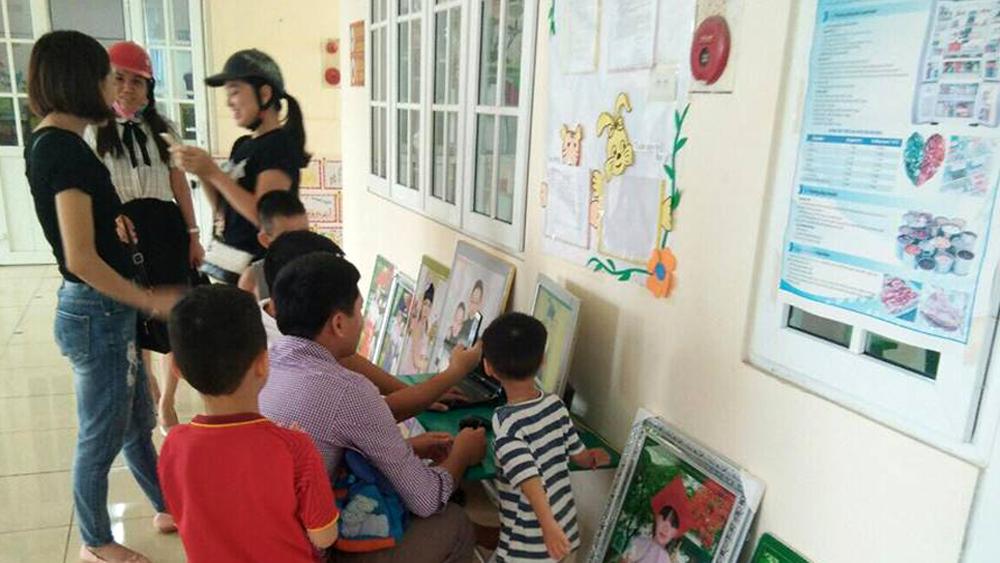 Trường Mầm non Ngô Quyền, chụp ảnh học sinh, học sinh 5 tuổi, năm học 2018-2019