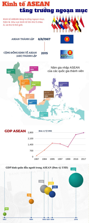 Kinh tế ASEAN, tăng trưởng ngoạn mục, khu vực kinh tế, châu Á