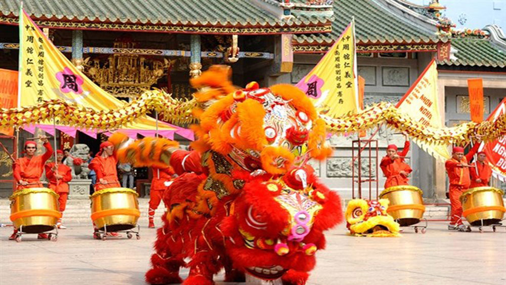 Lion dance teams, mid-Autumn festival, International Kylin, Lion Dance competition, Da Nang's Helio entertainment centre
