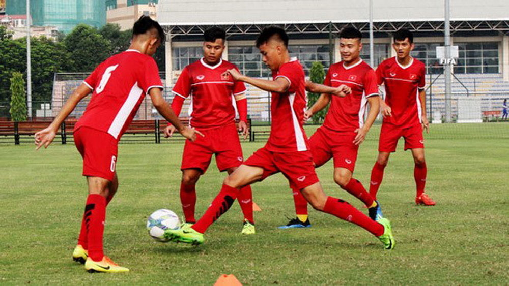Vietnam U19s put through their paces before Qatar friendlies