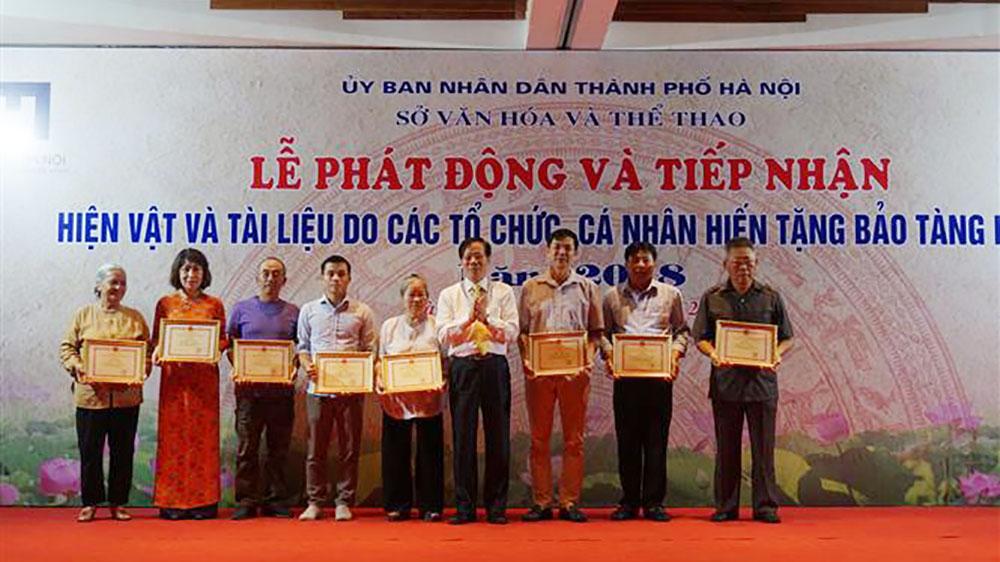 Bảo tàng Hà Nội, tiếp nhận, hơn 1.000 tư liệu, hiện vật, hiến tặng