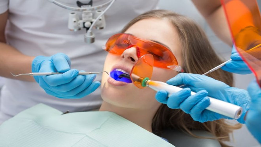 cân nhắc, tẩy trắng răng, laser