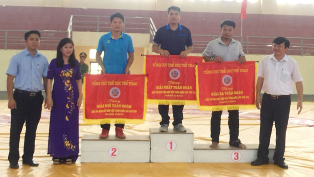 Bac Giang ranks second at national traditional wrestling championship