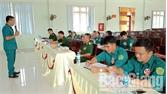 Thi báo cáo viên, tuyên truyền viên giỏi lực lượng vũ trang huyện