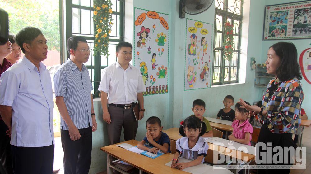 sáp nhập trường, Trường Tiểu học Đông Phú, Tiểu học Tam Dị, Lục Nam