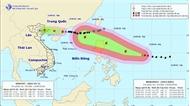 Ngày 17-9, siêu bão Mangkhut tiến thẳng vào các tỉnh ven biển Bắc Bộ