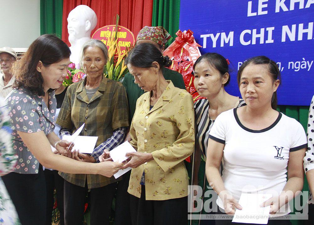 TYM, tài chính vi mô, Hội Liên hiệp Phụ nữ Việt Nam, Bắc Giang, phụ nữ, khó khăn, tiết kiệm