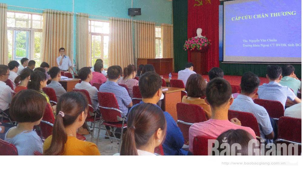 Chuyển giao khoa học kỹ thuật mới, hội viên Hội Thầy thuốc trẻ tỉnh, Bắc Giang