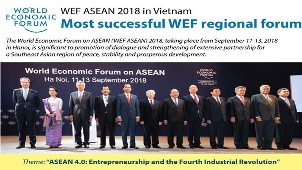 WEF ASEAN 2018 in Vietnam: Most successful WEF regional forum