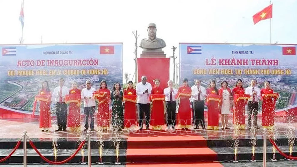 Fidel Park inaugurated in Quang Tri