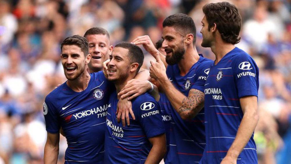 Eden Hazard lập hat-trick, Chelsea giành ngôi đầu bảng Ngoại hạng Anh