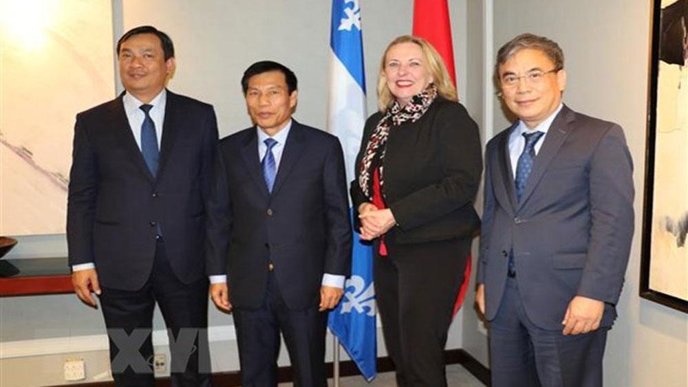 Vietnam enhances ties with Canada's Quebec province