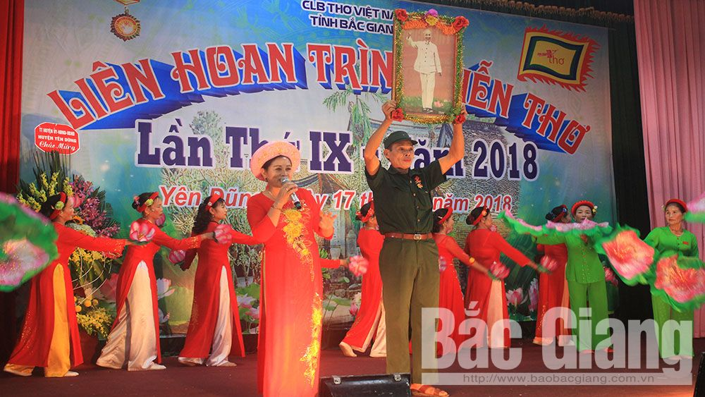 """Liên hoan, trình diễn thơ """"Miền đất Phượng"""" tại huyện Yên Dũng năm 2018"""
