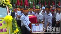 Tổ chức lễ rước hài cốt và truy điệu liệt sĩ Nguyễn Bá Thế