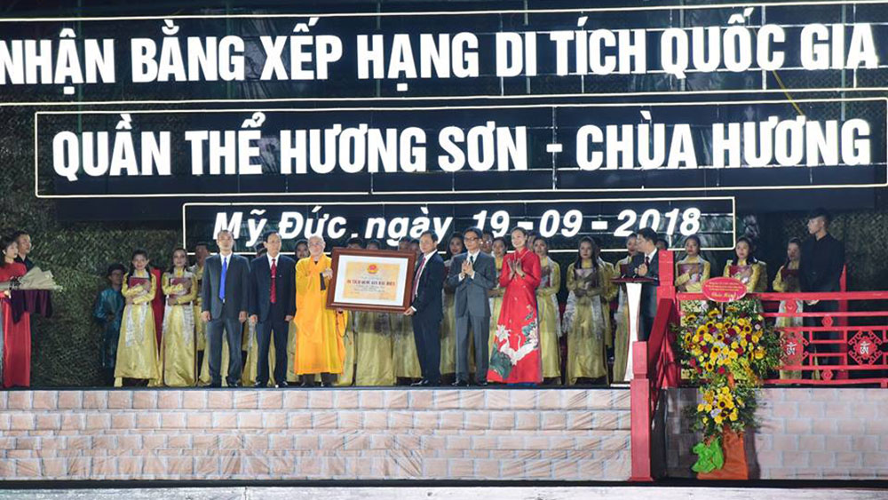 Danh thắng Hương Sơn đón Bằng Di tích Quốc gia đặc biệt