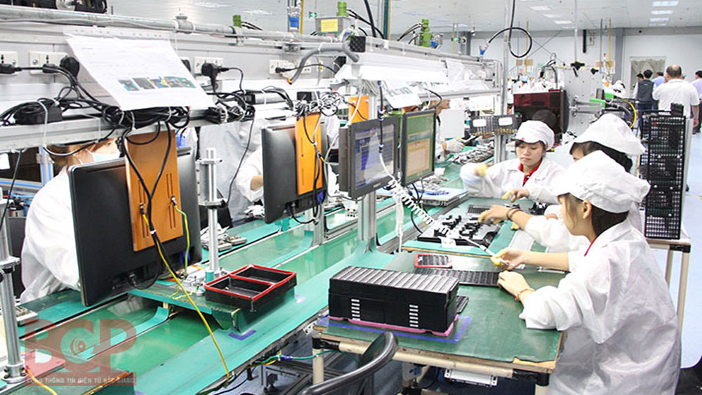 Industrial production value in FDI economic sector dramatically increase