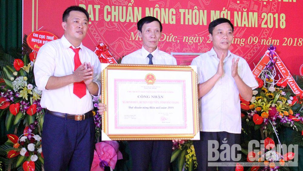 Xã Minh Đức đạt chuẩn nông thôn mới
