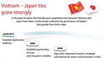Vietnam - Japan ties grow strongly