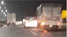 Hai ôtô chèn nhau như phim hành động ở cao tốc Bắc Giang