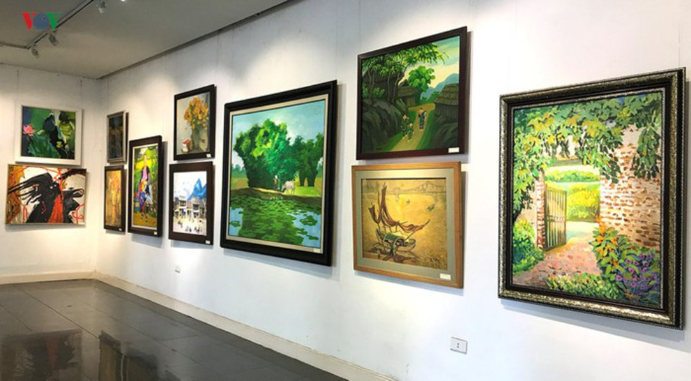 Họa sĩ, tác phẩm, triển lãm, hội Mỹ thuật Việt Nam, trưng bày, Acrylic, tranh sơn dầu, khắc gỗ