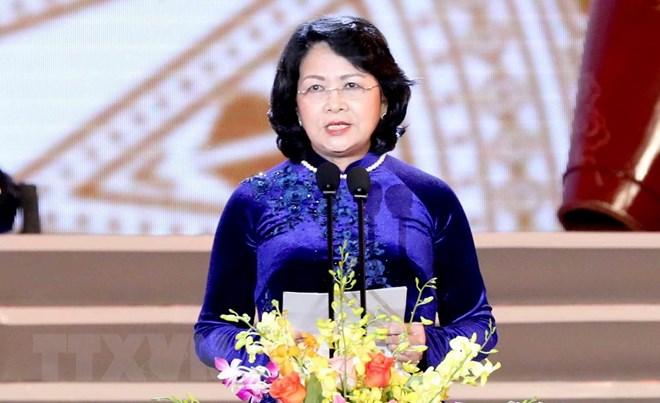 Bà Đặng Thị Ngọc Thịnh giữ chức quyền Chủ tịch nước CHXHCN Việt Nam. Ảnh TTXVN.