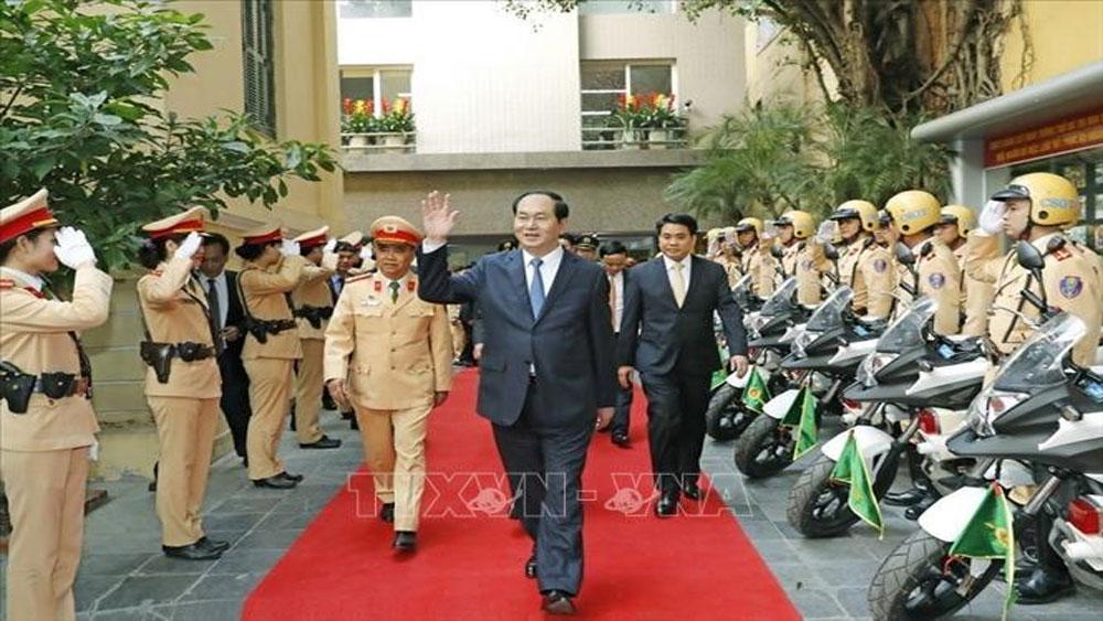 Đại tướng Trần Đại Quang - vị Tư lệnh ngành luôn gắn bó, gần gũi với lực lượng Công an nhân dân