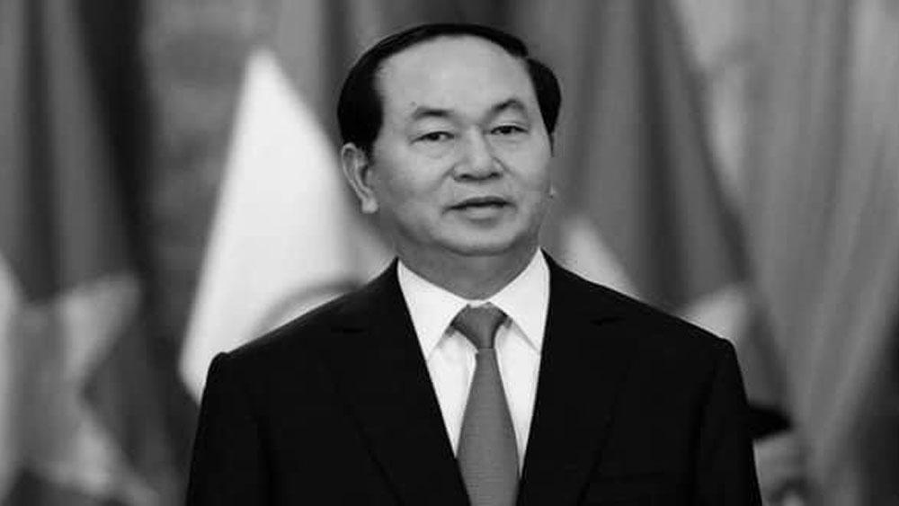 Lãnh đạo các nước tiếp tục gửi Điện chia buồn tới lãnh đạo Đảng, Nhà nước và gia quyến Chủ tịch nước Trần Đại Quang