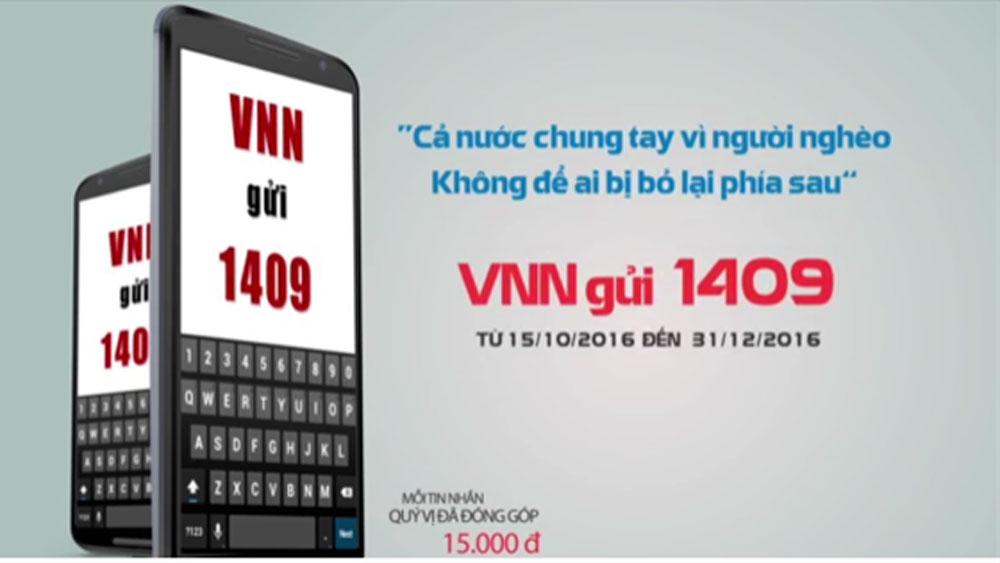 Kêu gọi nhắn tin chung tay vì người nghèo qua đầu số 1409
