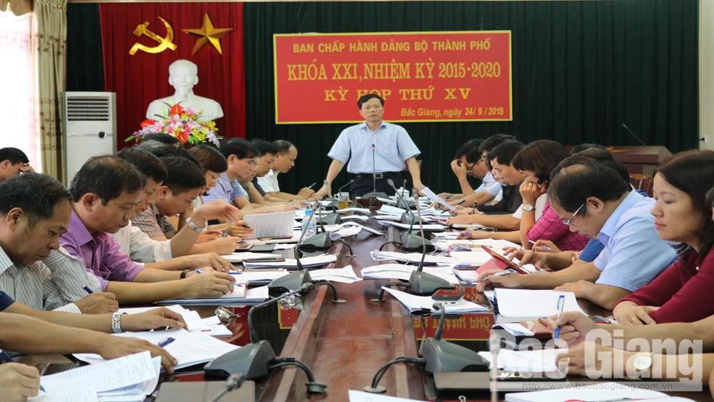Ban Chấp hành Đảng bộ TP Bắc Giang chỉ đạo thực hiện một số nhiệm vụ những tháng cuối năm