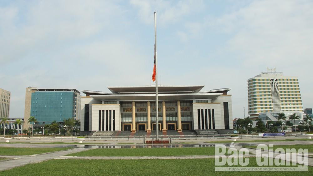 Treo cờ rủ trong Lễ Quốc tang Chủ tịch nước Trần Đại Quang