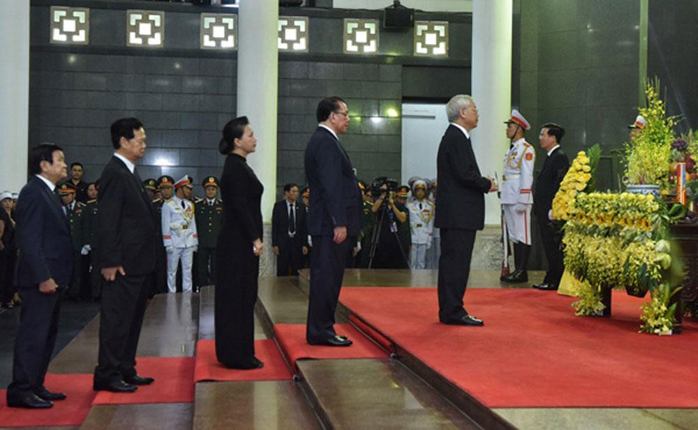 Cử hành trọng thể Lễ truy điệu Chủ tịch nước Trần Đại Quang