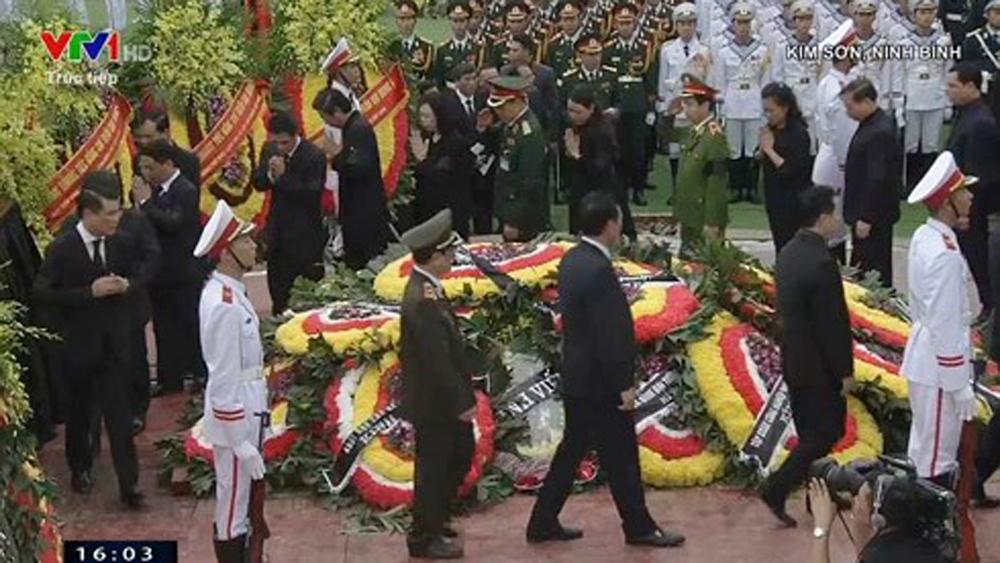 Lễ an táng Chủ tịch nước Trần Đại Quang tại quê nhà Ninh Bình