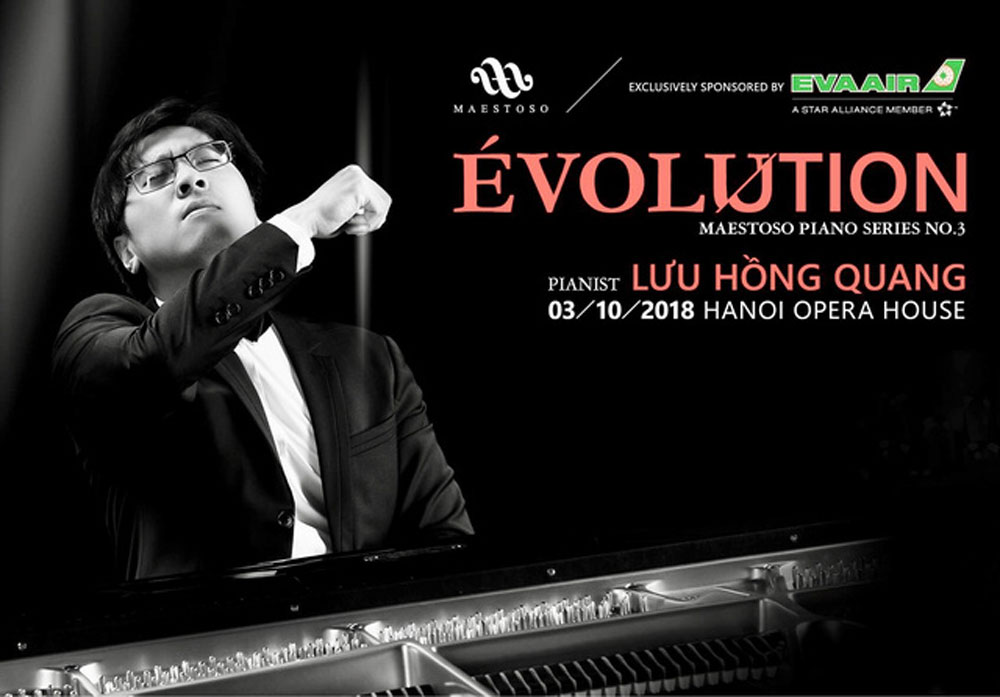 Popular Vietnamese pianist, Hanoi, Renowned Vietnamese pianist, Luu Hong Quang, international piano competitions, first performance, contemporary classical music