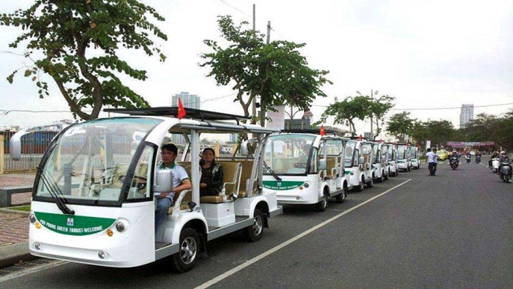 Thí điểm xe 4 bánh chạy điện, xăng chở khách du lịch