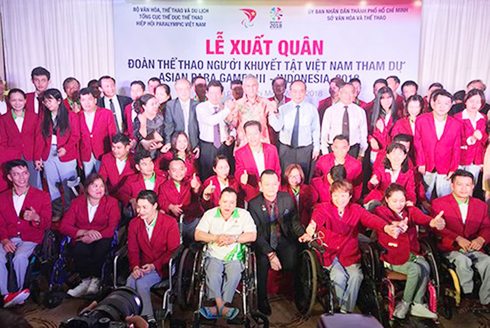 Send-off, Vietnamese athletes, Asian Para Games, Vietnam Paralympic Association, Vietnam disability, Games records, INAPG 2018