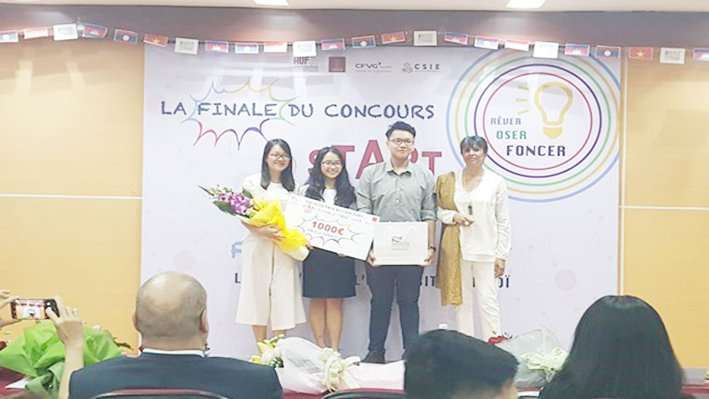 "Vietnamese students, Francophone startup contest, first prize, Asian – Pacific students, ""Freem"" project, Francophone companies, innovative business projects"