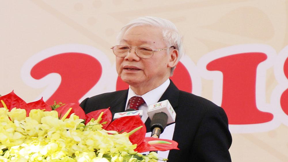 Tổng Bí thư Nguyễn Phú Trọng: Gắn nghiên cứu khoa học với đào tạo và phục vụ sản xuất