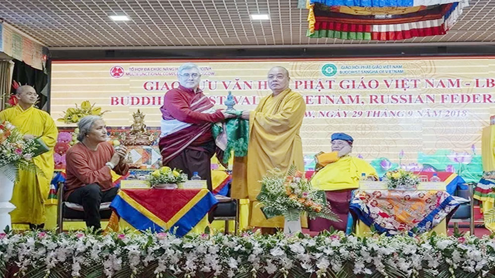 Vietnam delegation, Buddhist Cultural exchange programme, Russia, fine values, Vietnamese Government, Buddhist followers, meaningful exchange, peaceful and prosperous world