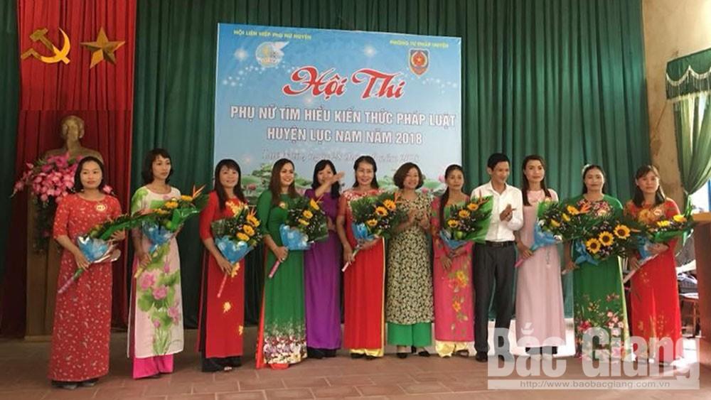 Hội thi phụ nữ tìm hiểu kiến thức pháp luật