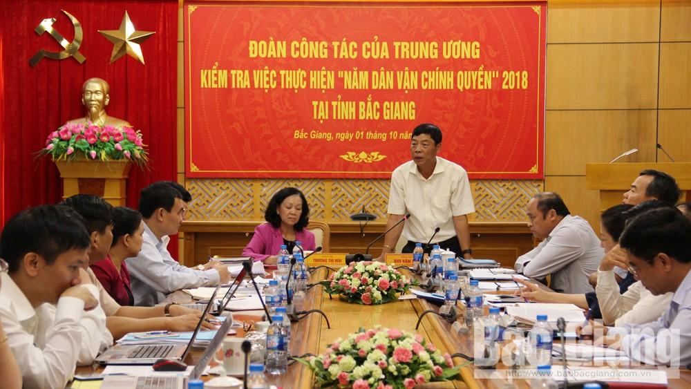 Ban Dân vận, Trương Thị Mai, Bắc Giang, Bùi Văn Hải, dân vận, dân vận chính quyền