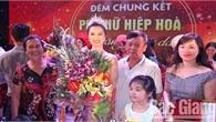 Nguyễn Thị Hoa giành giải Nhất Hội thi phụ nữ Hiệp Hòa tài năng - duyên dáng