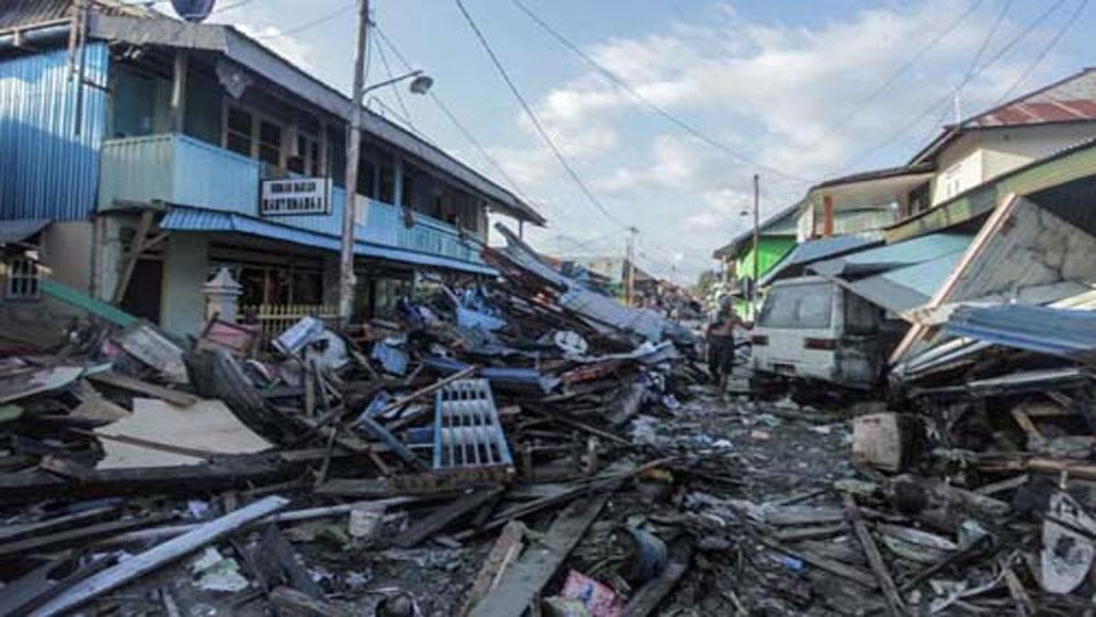 Số người chết sau thảm họa ở Indonesia tăng lên 1.347
