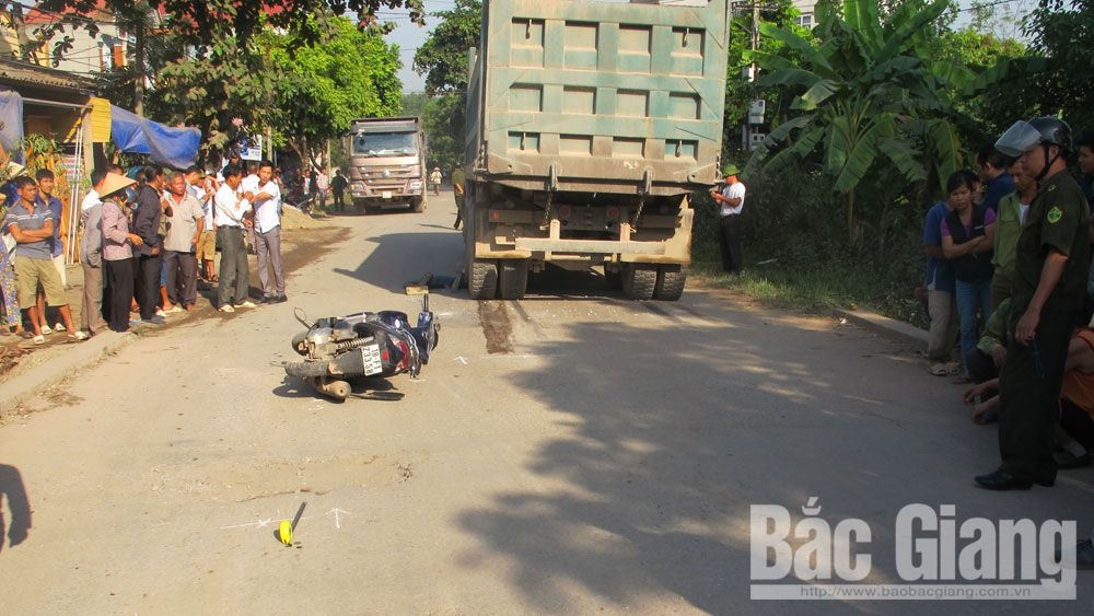 Tai nạn giao thông tại Bắc Giang, một người tử vong