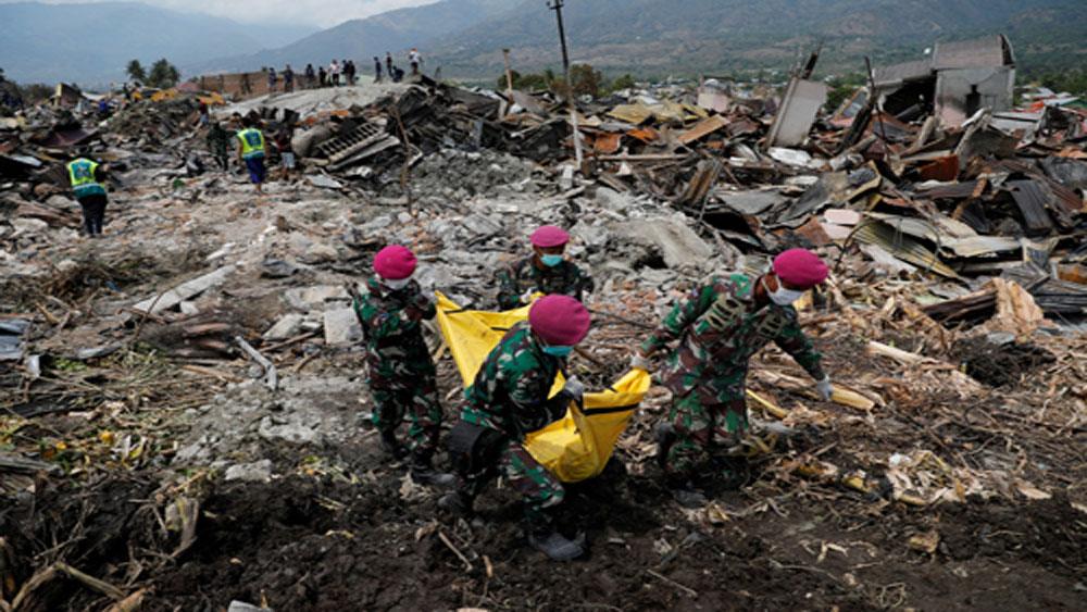 Số người chết do động đất, sóng thần Indonesia tăng lên hơn 1.500