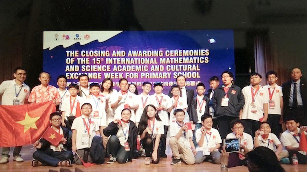 Vietnam, best ever performance, Maths and Science Olympiad, annual competition, school pupils, gold medallists, Department of Education and Training