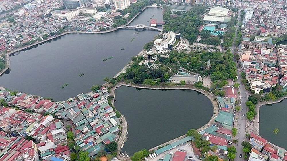 Hanoi, 25 new parks, national capacity, climate change, environmental pollution, artificial lakes, wastewater treatment plants, urban citizens
