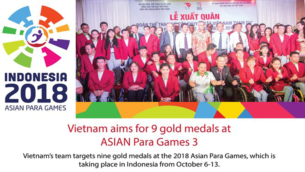 Vietnam aims for 9 gold medals at 3rd ASIAN Para Games