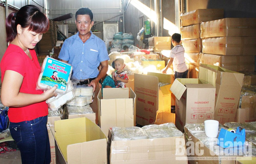 Bac Giang province, linkage chains, Chu rice noodle, production- consumption, quality and packaging designs, stable consumption markets, numerous consumers, typical product